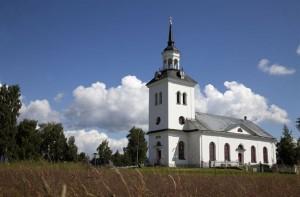 Haverö kyrka  där vi medverkade vid Församlingsafton, lördag kväll
