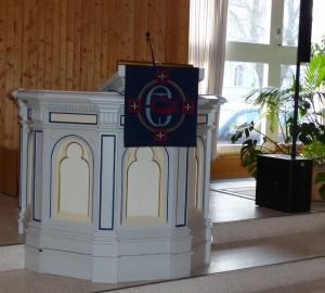 Gävle Betlehemskyrkan Waldenströms predikstol